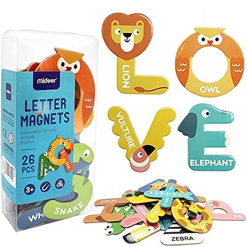 Uooker Fridge Magnet Letters Toys A-Z Alphabet Funny Cartoon Animals...