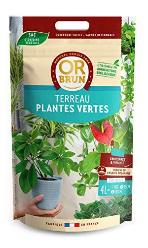 Or brun terreau Plantes Vertes UAB, Sachet de 4 litres, Non Applicable