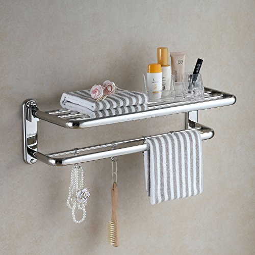 6xNamgiy Hanging Hooks Stainless Steel Clothes Coat Door Towel Nickel Hat Stick-on Hook For Kitchen Bathroom Bedroom 1.38 0.59 Inches