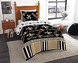 NFL New Orleans Saints Twin Comforter & Sheet Set (4 Piece Bedding)
