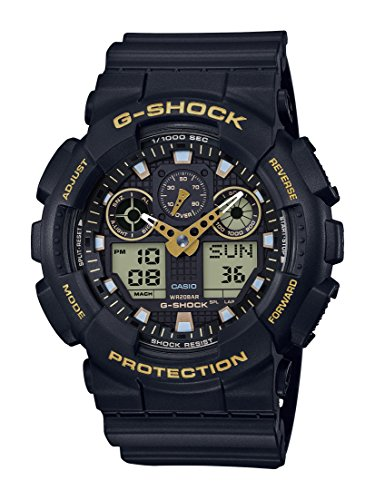 Casio G-SHOCK Orologio 20 BAR, Giallo/Nero, Analogico - Digitale, Uomo, GA-100GBX-1A9ER