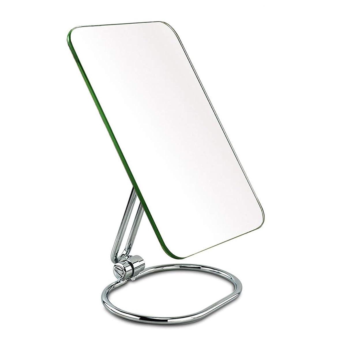 ワードローブ汚染された対応ポータブル片面折りたたみミラーミラーデスクトップステンレススチールミラードレッシングテーブルミラー化粧鏡