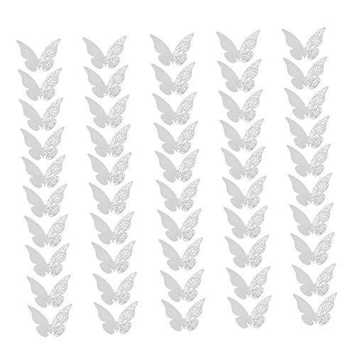PartyDeco STK0114018083 - Paquete de 50 mariposas de papel decorativas