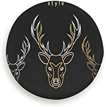 Cool pillow Tire Cover Monogram Deer Totem Set Monogrammed Animals Wildlife Polyester Universal Spare Wheel Tire Cover Wheel Covers Jeep Trailer Rv SUV Truck Camper Travel Trailer Accessories
