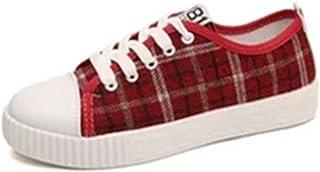 [美しいです] ズック靴 スニーカー レディース シューズ フラットシューズ 春 夏 秋 パンプス 和風 チェック柄