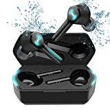 Edifier GM6 True Wireless Bluetooth Earbuds, TWS Gaming Earbuds with Bluetooth 5.0, ENC Noise Canceling, IPX5 Waterproof, 21 Hours Playtime, in-Ear Gaming Headset with Charging Case, LED Light, Black