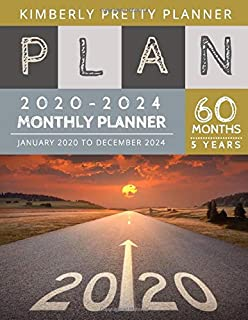 5 year Monthly Planner 2020-2024: Road to Success calendar 5 year planner | 60 Months Calendar, 5 Year Appointment Calendar, Business Planners, Agenda Schedule Organizer Logbook and Journal