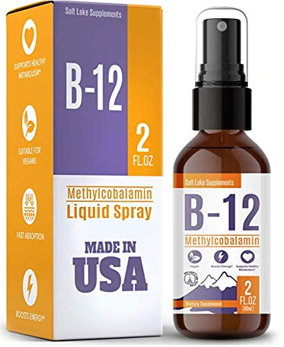 Vitamin B12 Liquid Sublingual Drops - Vegan, Non-GMO, Sugar Free - Best Way to Instantly Boost Energy Levels and Speed Up Metabolism - 2oz