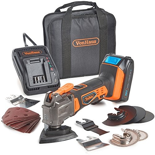 VonHaus 20V MAX Cordless Oscillating Multi-Tool Kit with...