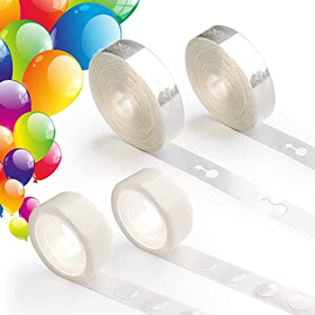 Coogam Balloon Arch Garland Decorating Strip Kit - 64 ft Ballon Tape Strips and 200 Dot Glue for Birthday Wedding Baby Shower Party DIY Decorations (Upgraded Version)