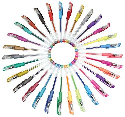 22-1500 Sargent Art Metallic Gel Pens 10-Count