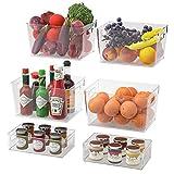 Juego de 6 Organizador de despensa Frigorífico Organizador Bins para Cocina, Organizar Frutas y...