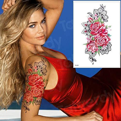 Handaxian 3pcs-Tatouage temporaire Femme Tatouage Bras Jambe Tatouage imperméable Tatouage Body Art 3pcs-19