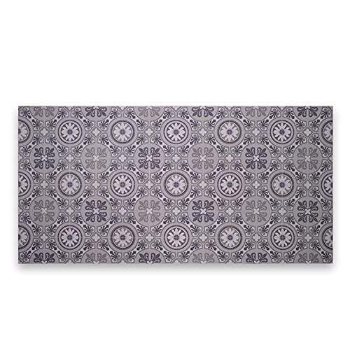 LAMARE Tapis en Vinyle - Couleur Gris - 100 x 50 cm