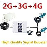 Alta Calidad Nueva Tri Band 900/1800/2100MHz Amplificador de Señal Móvil 2G 3G 4G gsm WCDMA LTE Amplificador Celular Antena Set Repeater