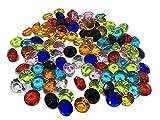 CRYSTAL KING 100 Stück 15mm große Bunte Deko-Diamanten Brillianten bunt klar basteln Gltzersteine Schmuck-Steine Strass-Steine Streu-Deko Tisch-Deko