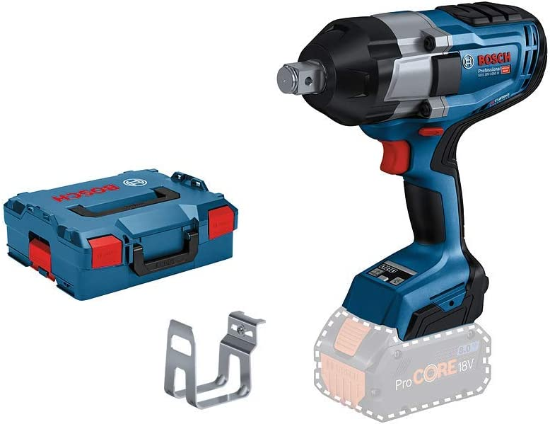 Bosch Professional BITURBO GDS 18V-1050 H - Atornillador de impacto a batería (18V, 1050 Nm, tornillos hasta M24, sin batería, en L-BOXX)