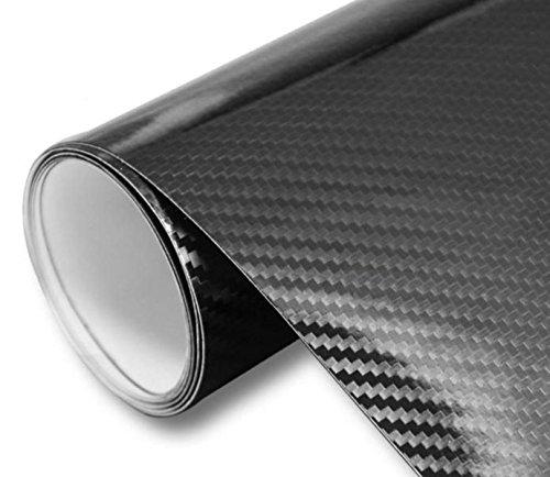イルモンドモール(IlMondoMall) 驚異の進化 5D カーボンシート カーボンステッカー 汎用 (黒 210×035cm)