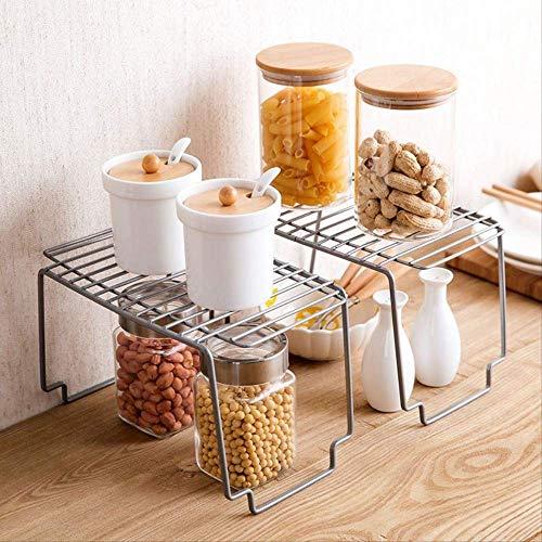 GJDBBLY keukenkast van metaal, antislip, meerlaags, opbergruimte voor de keuken