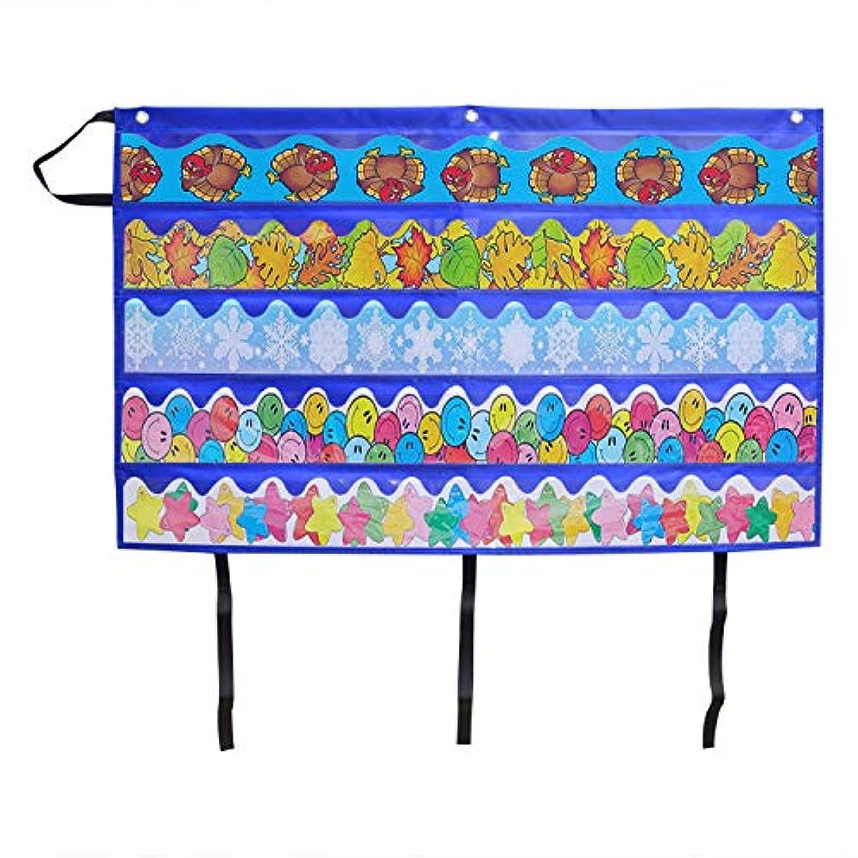 Kruideey 標準ポケットチャート 学習資源折りたたみ式教室装飾