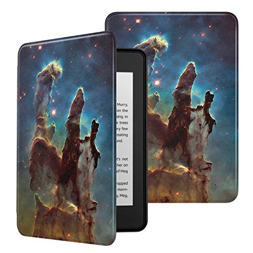 MoKo Funda Compatible con Kindle Paperwhite (10th Generation, 2018 Releases), Ultra Delgada Ligera Smart-Shell Soporte Cover Case Encaja Kindle Paperwhite 2018 - Pillars of Creation Nearby View