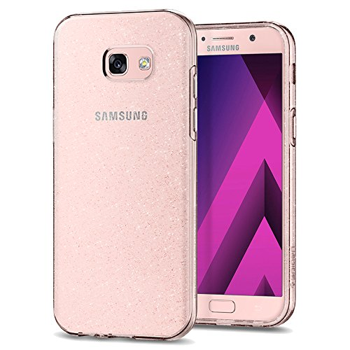 Spigen Samsung Galaxy A5 2017 Hülle, [Liquid Crystal Glitter] Glitzern Silikon [Crystal Quartz] Transparent Ultra Dünn Schlank Bumper-Style Handyhülle Premium Kratzfest TPU Durchsichtige Schutzhülle