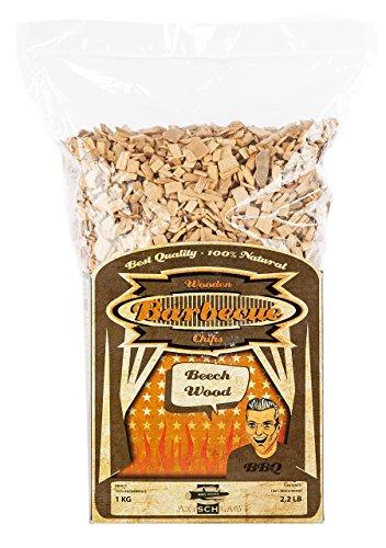 Axtschlag Räucherchips Buche, 1000 Gramm sortenreine Räucherspäne für besondere Rauch- und Geschmackserlebnisse, für alle Grills