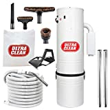 Central Vacuum Ultra Clean Unit 7,500 sq. ft. with 30' Hose Cleaning Attachment Set