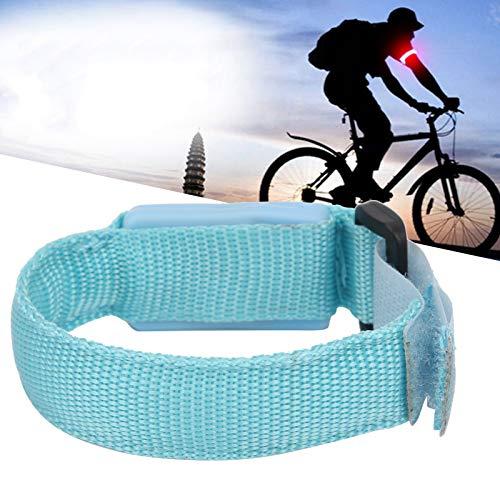 Pulsera reflectante, brazalete LED de alta visibilidad, seguridad nocturna con pilas(blue)