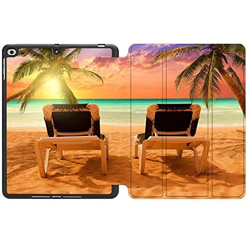 SDH Funda para iPad de 9,7 pulgadas 2018 2017,iPad Air 1 / iPad Air 2 Smart Cover Folio Stand Protector para Apple iPad 5ª 6ª generación (A1822/A1823/A1893/A1954), Beach Scenery 9