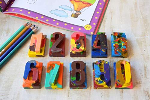 Stift Malstift Zeichenkreide Buntstifte in Form von Mathematik Zahlen Künstlerbedarf für Kinder Arithmetische Symbole Geschenkartikel Schule Malvorlagen Kindergeburtstagsgeschenk