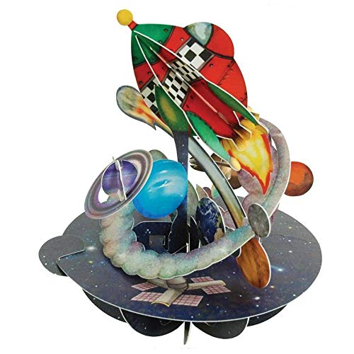 Out in Space Pirouette - Santoro 3D Pop-Up Greeting & Birthday Card for Him & Kids