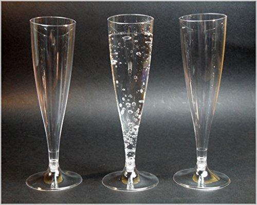 EVENTpac 20x Sektgläser 100ml Sektkelche Einweg Sektglas/stabile Premiumqualität aus Deutscher Herstellung / 2 Teilig - Exklusives Produktbundle der Marke