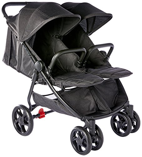 "Childcare Twin Tour Stroller ""Shadow"", Black"