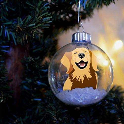 BYRON HOYLE Golden Retriever - Adorno de Navidad personalizado para perro, bola de Navidad, adornos irrompibles, bolas de árbol para Navidad, decoración de vacaciones, bodas y fiestas