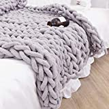 Chunky Wolle Garn DIY Handstricken Roving - Soft Bulky Arm Stricken Dicke Wolle zum Häkeln   Strickdecke Decke Garn für Riese Klobig Stricken Werfen Sofa Decke