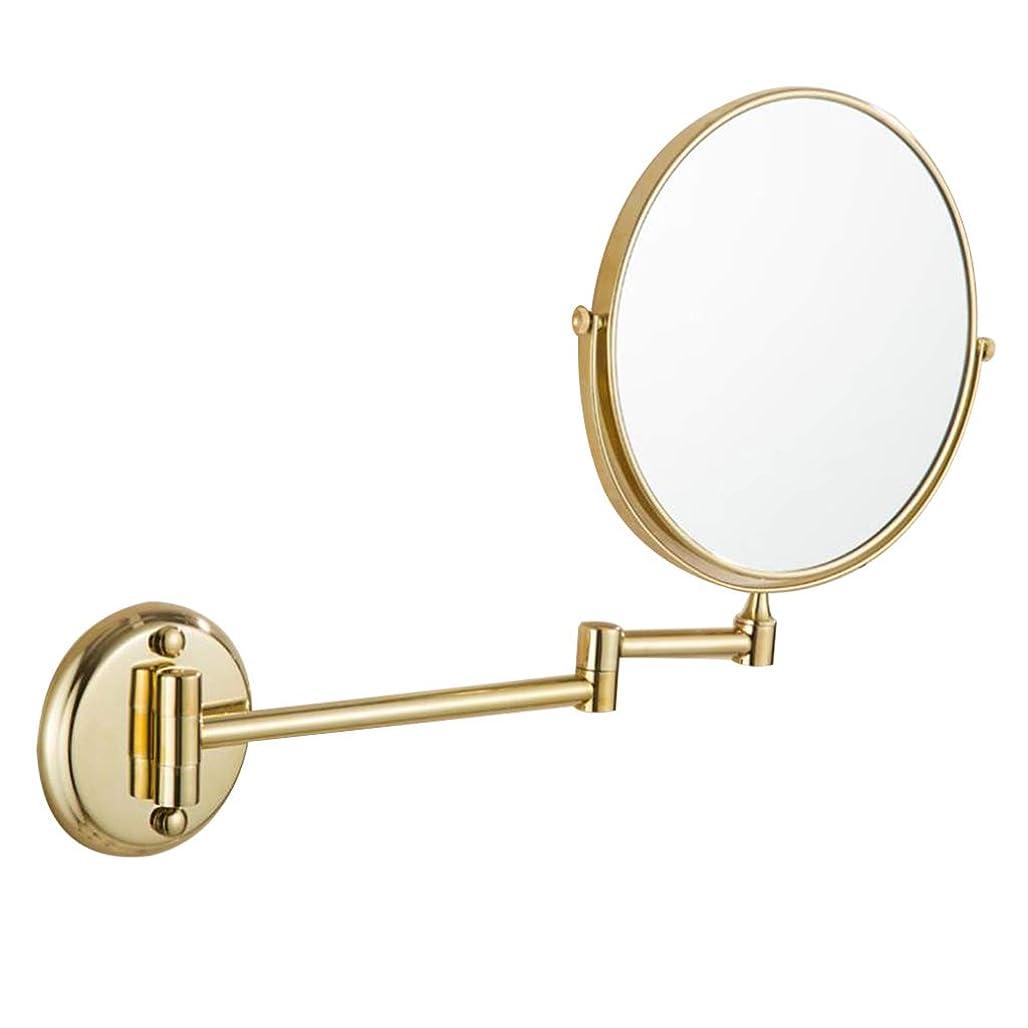 プラカード申し立てる子羊HUYYA シェービングミラー バスルームメイクアップミラー 壁付、バニティミラー 3 倍拡大鏡 化粧鏡 両面 折りたたみ 寝室や浴室に適しています,Gold_6inch