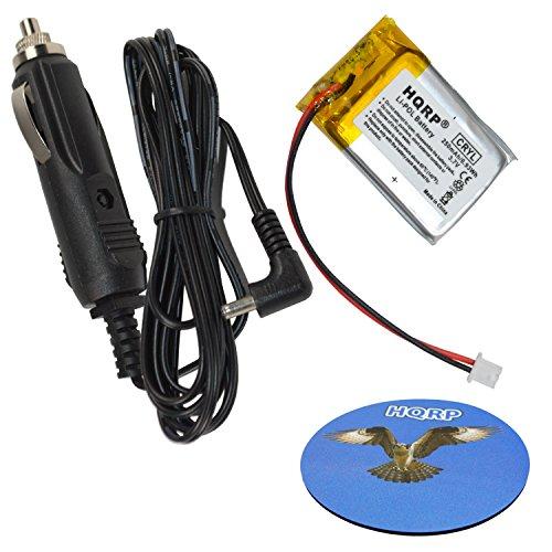HQRP Kit Battery and Car Charger for VXI Blue Parrott 203664 052030 502030 BlueParrott B250-XT, B250-XT+ Wireless Bluetooth Headset, Roadwarrior, Blue-Parrot PL602030 12-volt Vehicle Adapter + Coaster