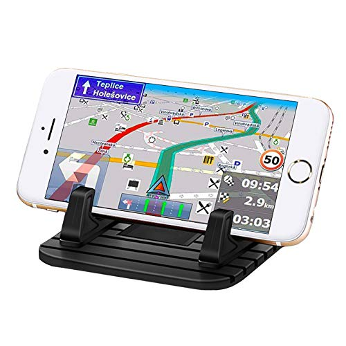Non-Slip Car Phone Holder, Bysameyee Head-up Display Anti-Slide Car Phone Mount Silicone Phone Car Dashboard Pad Mat Dashboards, Desk Phone Stand Compatible with iPhone, Samsung, Android Smartphone