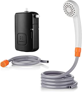 Portable Outdoor Shower, Camping Shower USB Rechargeable 4400mAh Battery Powered Shower Pump for Family Camp/Hiking/Backpacking, Travel, Beach, Pet, Flowering, Outdoor Water System IPX7 Waterproof