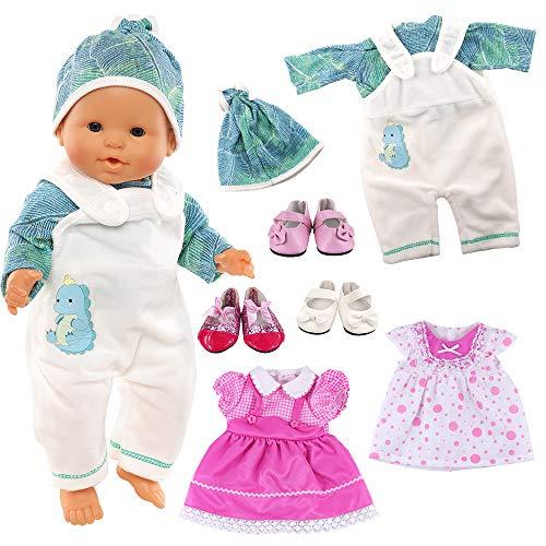 Bambole VESTITI SCARPE PER My First Baby bambole MIS 36-38 cm vestiti Turchese