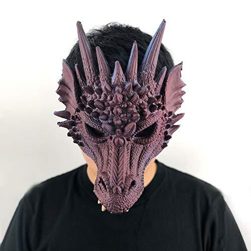 MSSJ Máscara de dragón Cosplay Wing and Tail Costume Game of Thrones Purim Halloween Carnaval Niños Disfraces Decoración Disfraces Atrezzojiu Hong