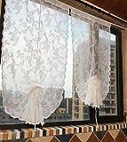 Qucover Cortinas de Media Altura Blanco (4)