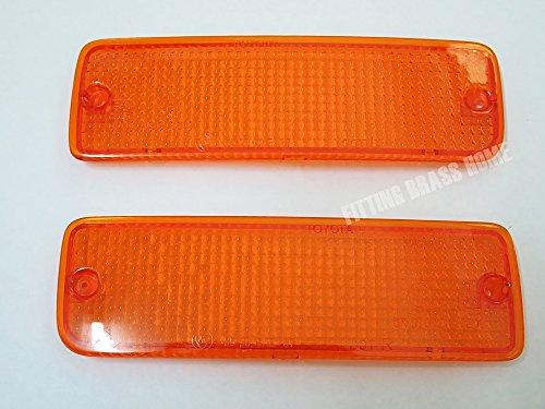 Front Bumper Bar Lights Orange Lenses for Toyota Hilux Mighty X Ln85 Pickup 1989-1995 90 91 92 93 94 L+r