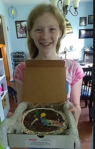 Happy Birthday Brownie Cake 2 LB / 10 Inch - Freshly baked; rich, fudgy and delicious - Perfect Bi