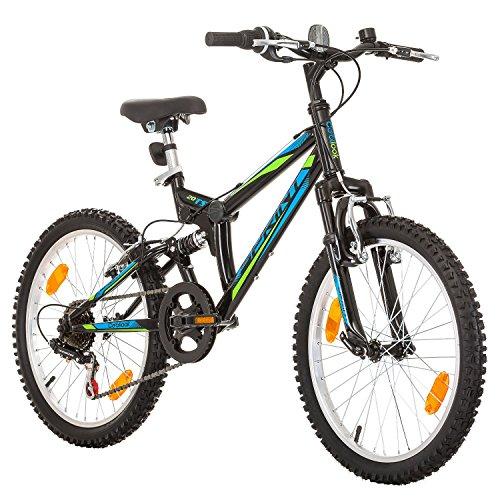 20 pollici, CoollooK, SPRINT, Bicicletta Mountain Bike, Unisex, 6 velocità, Nero
