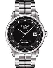 ساعة بمينا لون اسود وسوار معدني للرجال من تيسوت - T086.408.11.056.00