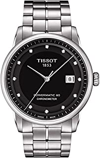 Tissot Men's Black Dial Color Metal Band Watch - T086.408.11.056.00