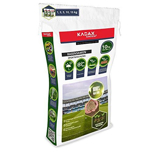 KADAX Sportrasen, Spielrasen, Saatgutmischung, Rasensamen, Grassamen, Rasensaat, Rasenmischung, wirksames Saatgut, Gras, Rasensaatmischung (10 kg)