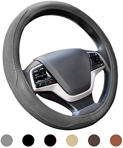 Ylife Microfiber Leather Car Steering Wheel Cover Universal 15 inch Breathable Anti Slip Auto product image